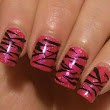 Pink Zebra NET Awareness Mani