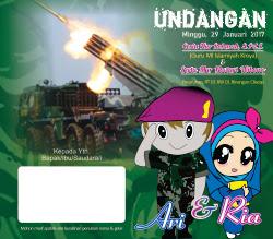 Desain Undangan Hijau TNI Full Color cdr