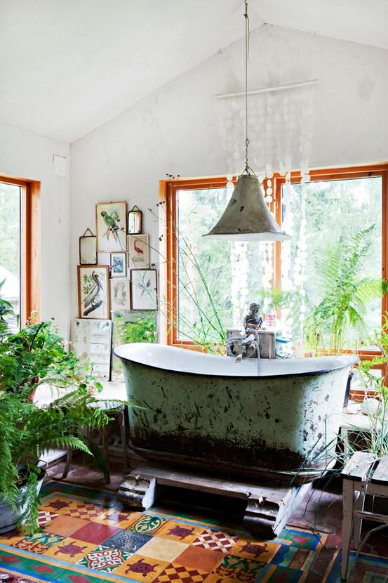 Dishfunctional Designs The Bohemian Bathroom