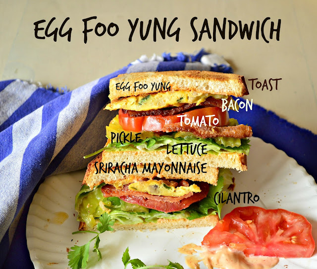 Egg Foo Yung St. Paul sandwich