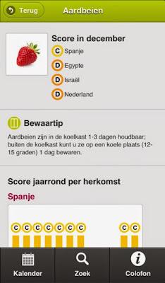 Groente- en fruitkalender app