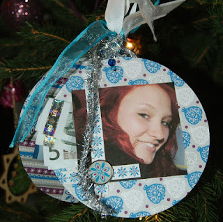 Up Cycled Christmas ornament/money holder