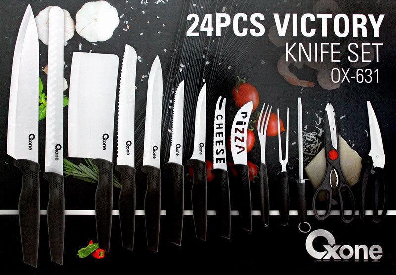 OX-631 Pisau Set Oxone 24Pcs Victory Knife Set