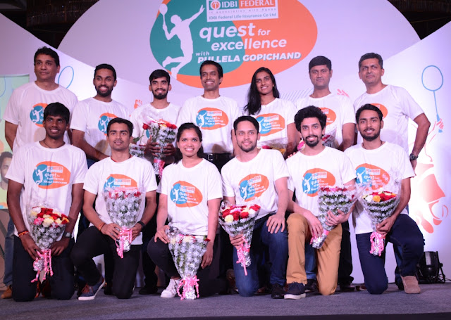IDBI Federal Life Insurance PullelaGopichand announce launch of Quest for Excellence programme