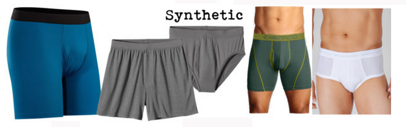 Men's synthetic travel underwear