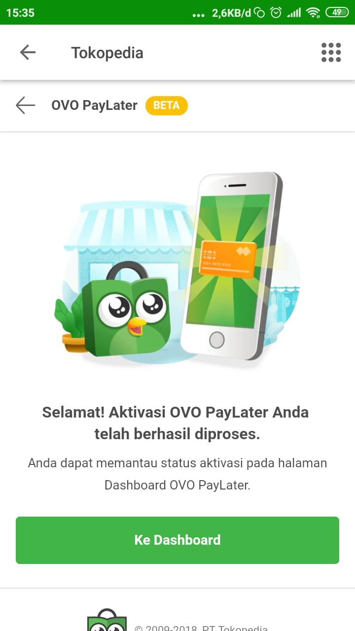 Cara Daftar Aktivasi OVO Paylater Tokopedia - CEMITI