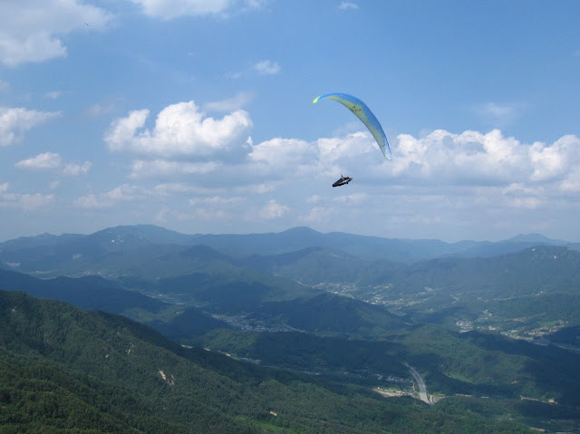 paragliding in Geochang