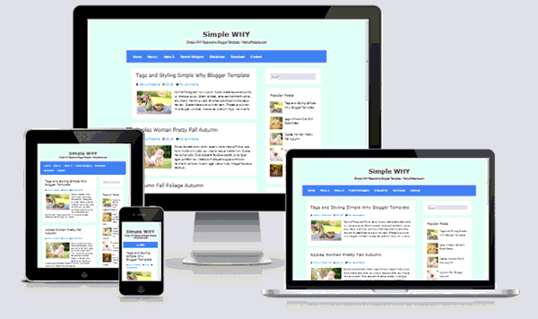 Simple WHY Responsive Blogger Templates