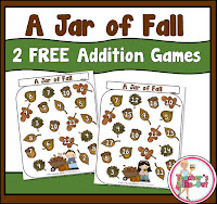 Free Jar of Fall Addition Games
