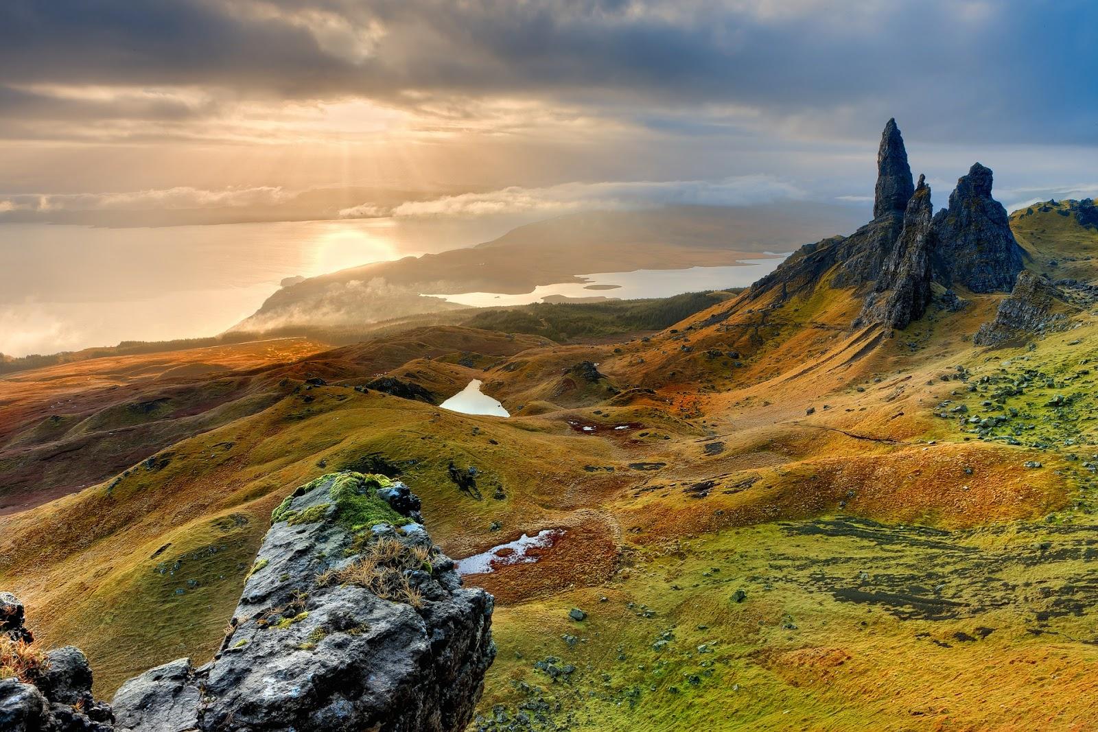 szkocja, pejzaż, jesień