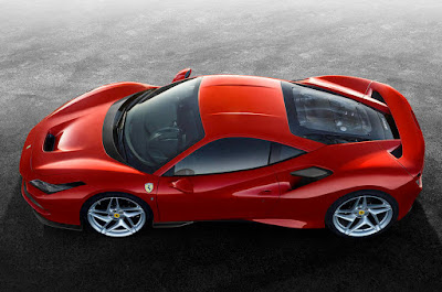 View of the Ferrari F8 Tributo from above