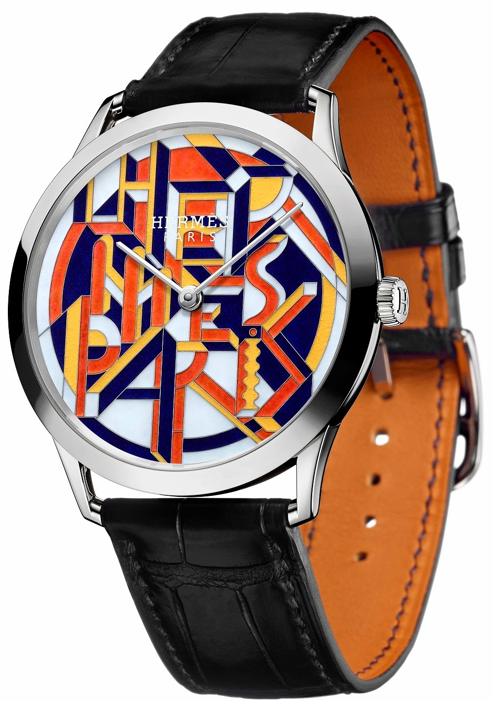 Hermès - Slim d'Hermès Perspective Cavalière watch white gold version featuring ultrathin movement
