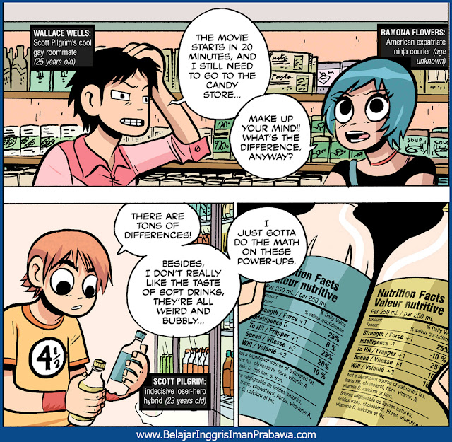 Contoh Kata Make Up Your Mind di Komik