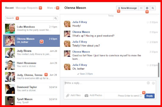 facebook messages change