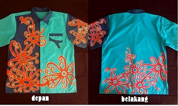baju batik motif dayak 2