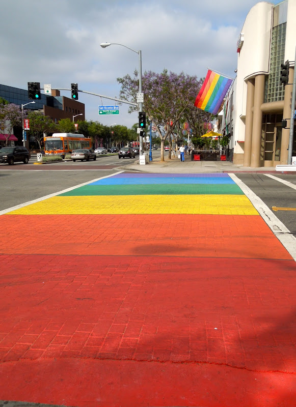 West Hollywood Pride rainbow crossing