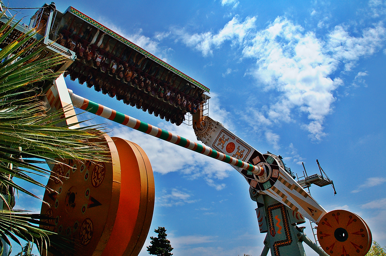 Hurricane attraction Tibidabo Amusement Park