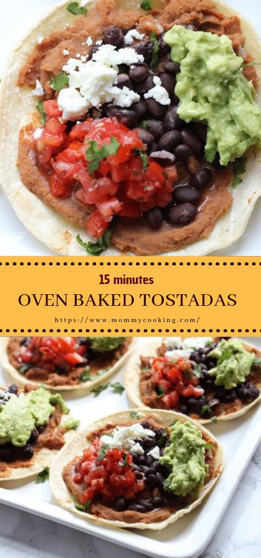 OVEN BAKED TOSTADAS #vegan #recipe