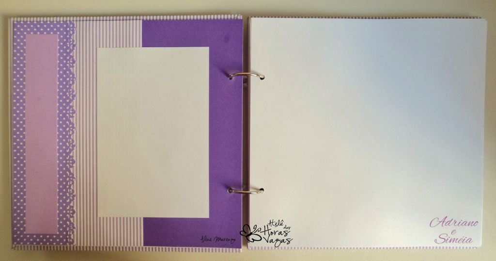 álbum livro de mensagens assinaturas artesanal casamento delicado romântico floral lilás branco scrapbooking scrap