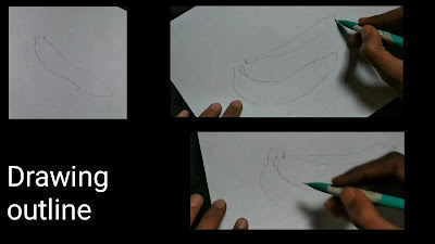 How to draw banana, easy drawing, banana drawing for begginers, easy realistic drawing, fruits and vegetables drawing