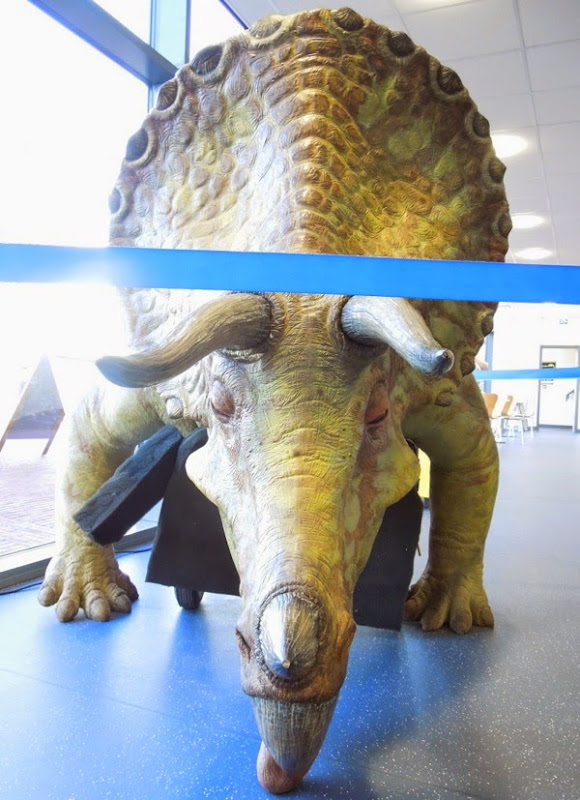 Animatronic Triceratops Doctor Who Dinosaurs on Spaceship