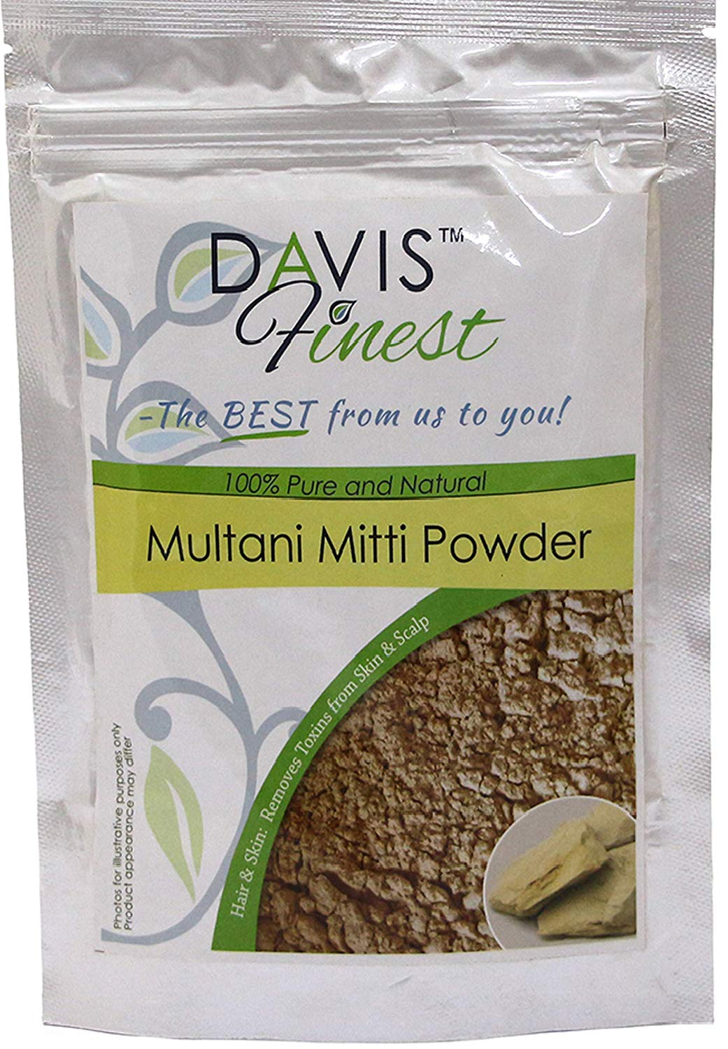 Skin Face Pack 100gm High Resilience Realistic Multani Mitti Powder fuller's Earth