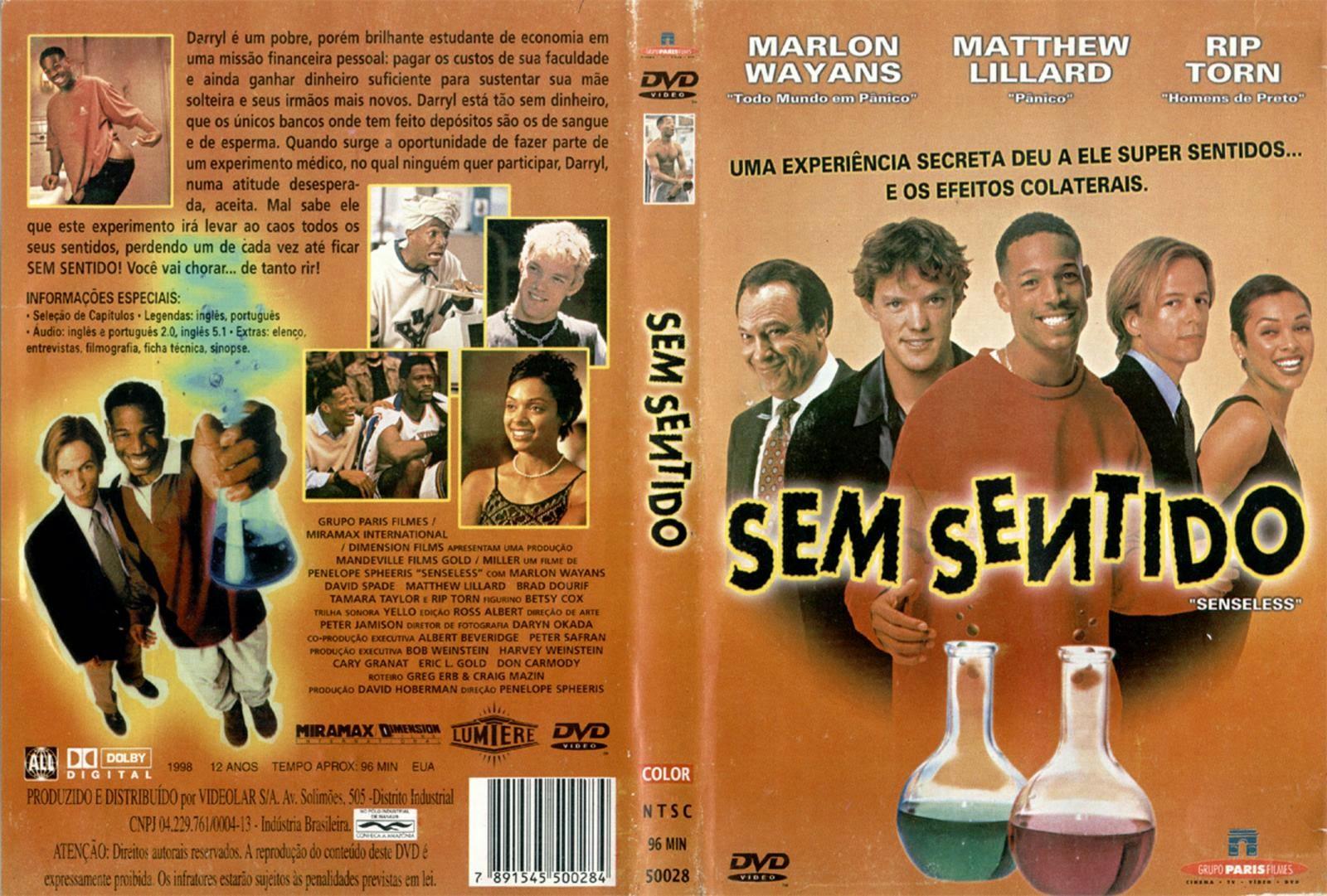 Filme Sem Sentido DVD Capa