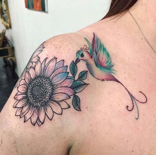 kadın omuz dövmeleri woman shoulder tattoos 2