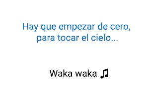 Shakira Waka Waka significado de la canción.