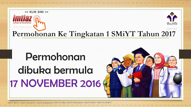 Permohonan Tingkatan 1 Tahun 2017 Sek Men Imtiaz Yayasan Terengganu