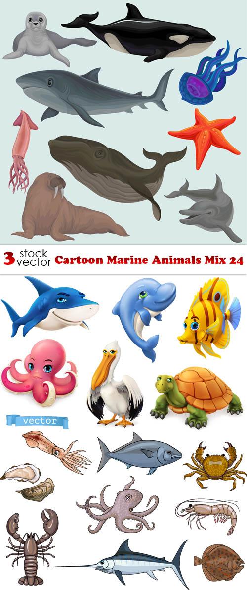 فيكتور كرتون الحيوانات البحرية