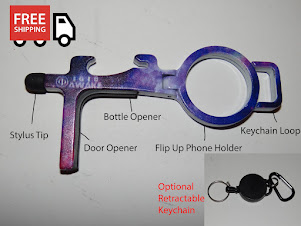 "Corona Touchless Door Opener and Stylus - ""Galactic Zap"" by 1618AWAKE"