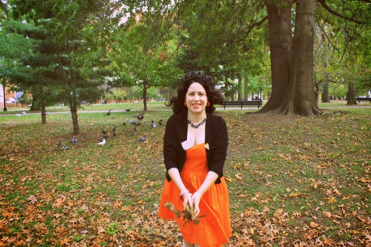 A Vintage Nerd, eShakti Orange Dress, Retro Fashion Blog, Retro Lifestyle Blog, Vintage Blog