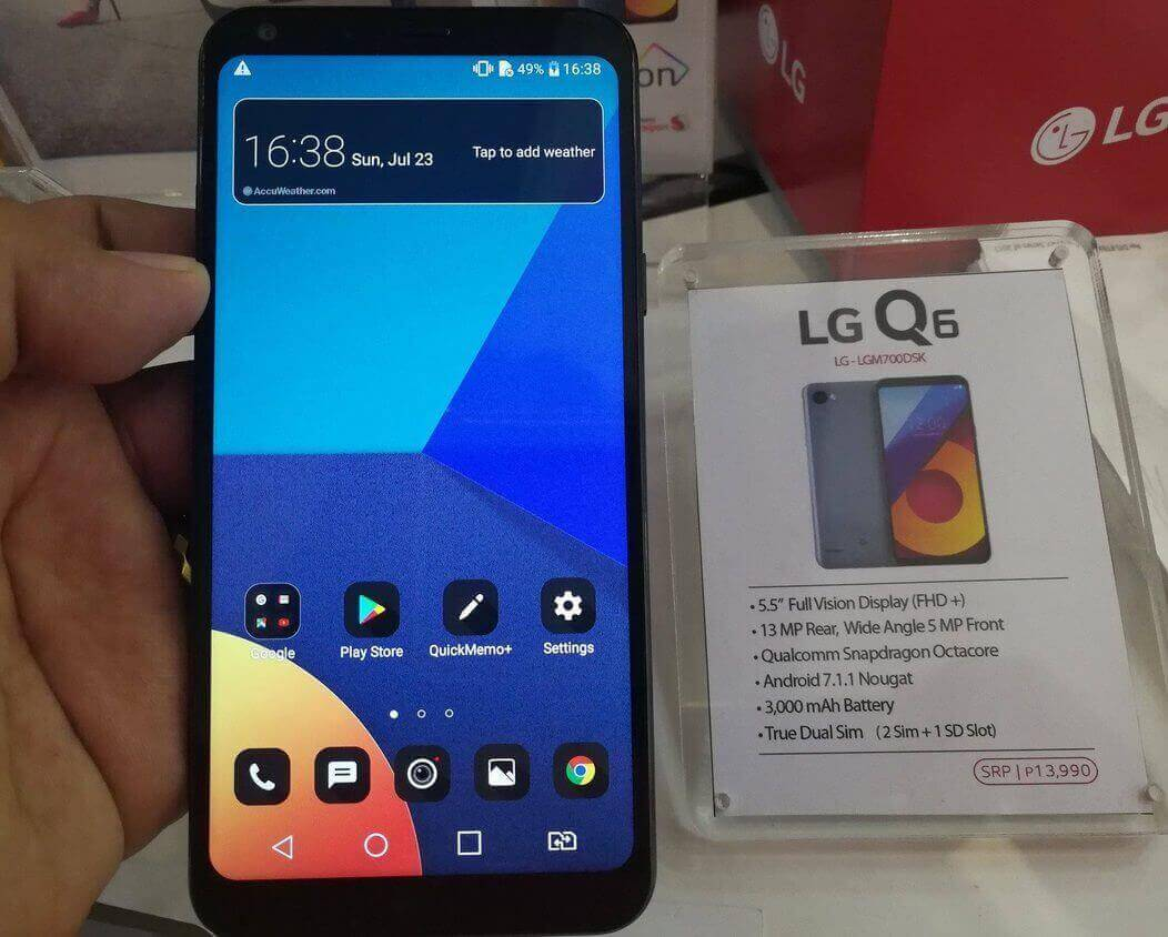 LG Q6 Now in the Philippines for Php13,990; Octa Core with FullVision Display