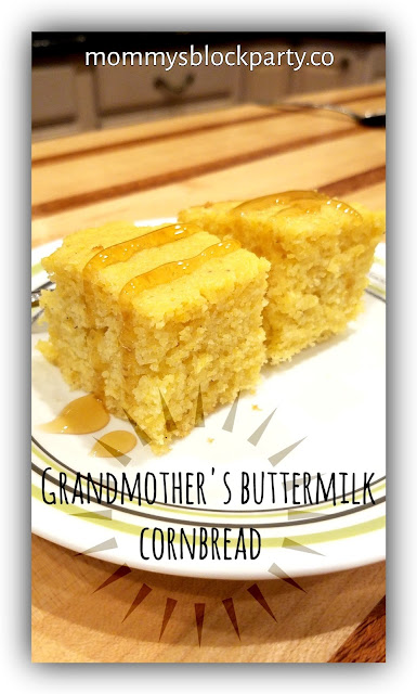 Grandmother's Buttermilk Cornbread #Recipe #TastyThursday