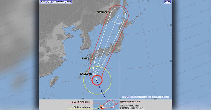 JEBI: Un potente huracán se acerca al Pacífico por el sur de Japón