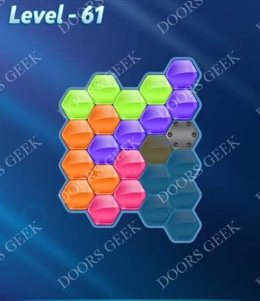Block! Hexa Puzzle [Intermediate] Level 61 Solution, Cheats, Walkthrough for android, iphone, ipad, ipod