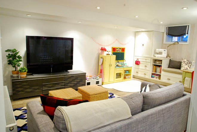 Rambling Renovators | entertainment zone basement