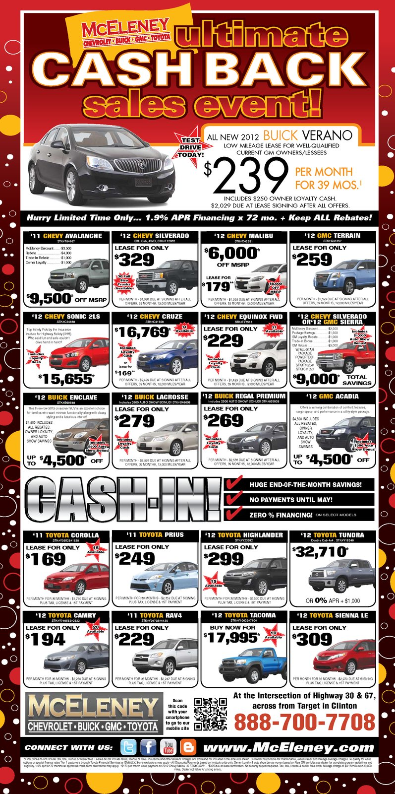 mceleney chevrolet buick gmc toyota  hurry these new car savings won u0026 39 t last long    stop by