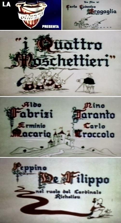 i 4 moschettieri di Carlo Ludovico Bragaglia