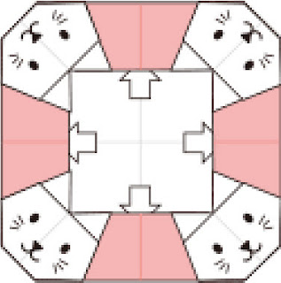 Bước 11: Vẽ mặt mũi và mở lớp giấy lên tại vị trí các mũi tên