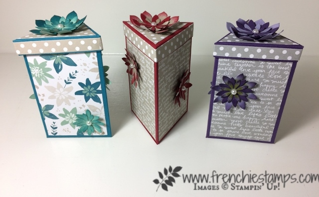 Triangle Box, DIY, Stampin'Up!, frenchie stamps live