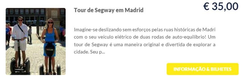 Madri - compre ingressos on-line para as atrações - Tour de Segway em Madri - Ticketbar