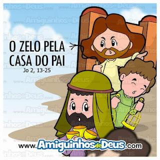 Resultado de imagem para DESENHO Evangelho João 2, 13-25