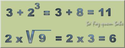 A Hierarquia das Operações Matemáticas e Algébricas. Em uma sequência de operações de uma expressão, efetuam-se, primeiro, a Potenciação e a Radiciação