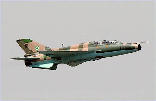 A Nigerian Air Force F-7 fighter jet