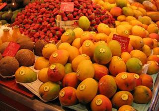 Frutas no mercado.