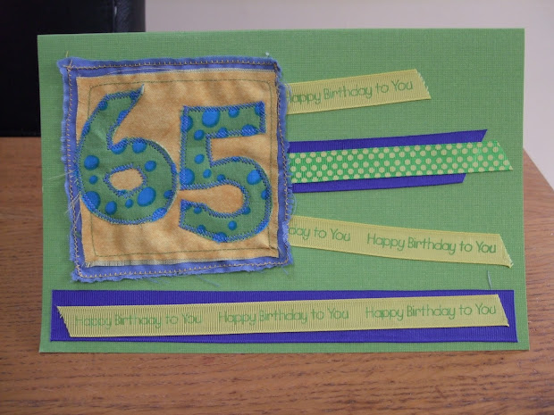 Making Stuff 65th Birthday Card