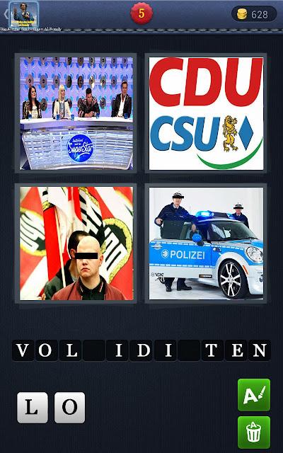 4 Wörter 1 Bild lustig - Vollidioten