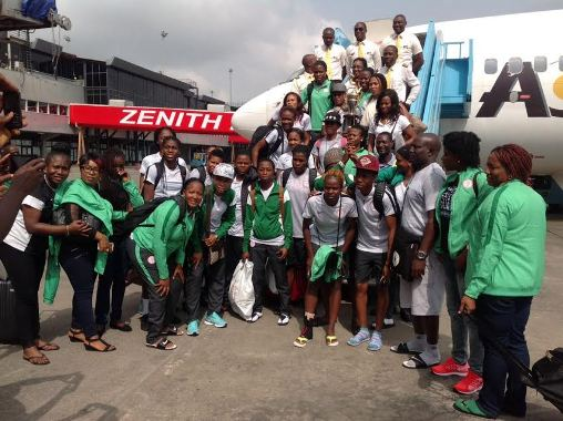 Super Falcons arrived in Lagos on Sunday.